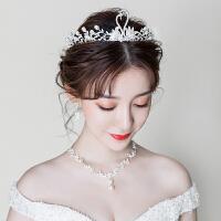 新款皇冠三件套婚礼项链耳环发饰结婚婚纱配饰品