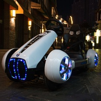 超大号儿童电动卡丁汽车小孩双驱四轮带遥控3-8岁宝宝玩具可坐人儿童节礼物 白色-全功能+大电瓶+防爆轮