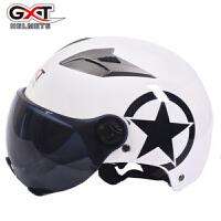 GXT四季电瓶车头盔半覆式男女士双镜片半盔防晒电动车安全帽