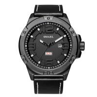 斯麦尔(SMAEL) 手表 电子表 1313男士休闲石英表 时尚简约男士皮带表 自动日期