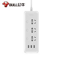 公牛 GN-B3033插座插排接线板 独立开关USB接口 3孔1.8米