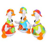 汇乐828摇摆鹅儿童音乐玩具宝宝电动会唱歌跳舞鸭子1-3岁益智爬行