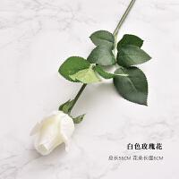 仿真玫瑰花束装饰花绢花客厅场景温馨摆设郁金香假花防水餐厅摆件