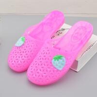 包头女士夏天拖鞋浴室内外塑料洞洞凉拖鞋水晶可爱韩版居家用