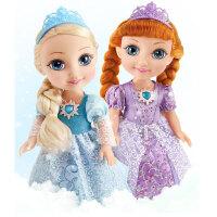 挺逗 冰雪公主会说话的智能洋娃娃对话洋娃娃儿童玩具女孩套装