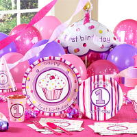 孩派 生日聚会用品 儿童派对用品礼品 女孩粉蛋糕主题系列