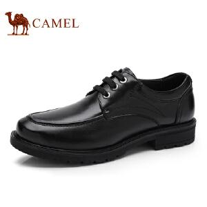 骆驼牌 男鞋 新品简约商务休闲男皮鞋头层牛皮低帮男鞋