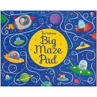 【首页抢券300-100】正版Usborne Big Maze Pad 大开本迷宫活动书 原版英语绘本 儿童英文原版进口