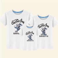 一家三口亲子装夏装2018新款潮母女装母亲子装全家装春装短袖T恤