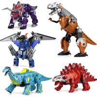 五合体儿童玩具男孩模型正版变形玩具金刚5恐龙霸王龙机器人