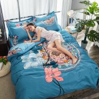 加厚棉磨毛四件套床上用品床单被罩加厚床裙 标准尺寸200*230cm