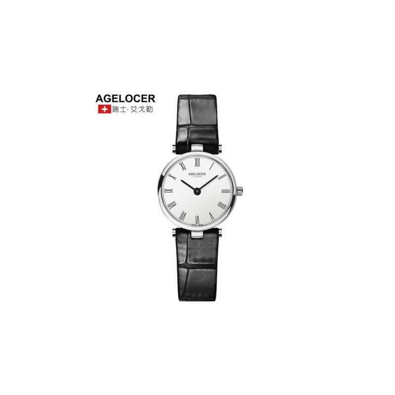 Agelocer艾戈勒瑞士进口手表女 防水时尚潮流女士石英表简约女表 支持七天无理由退换 零风险购