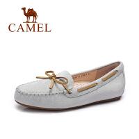 骆驼户外女鞋 春夏季休闲平跟百搭豆豆鞋 浅口平底懒人单鞋