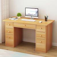 【1件3折 领券】简易办公桌家用仿实木简约现代书桌子卧室单人学生写字电脑台式桌