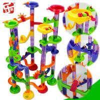 尤乐趣热销大号滚珠轨道积木105片宝宝管道建构迷宫儿童益智玩具