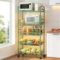 多功能厨房置物架落地家用小推车多层蔬菜篮收纳锅具架子用品大全