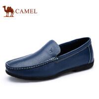 camel 骆驼男鞋休闲鞋男士低帮套脚休闲皮鞋乐福鞋子休闲男皮鞋