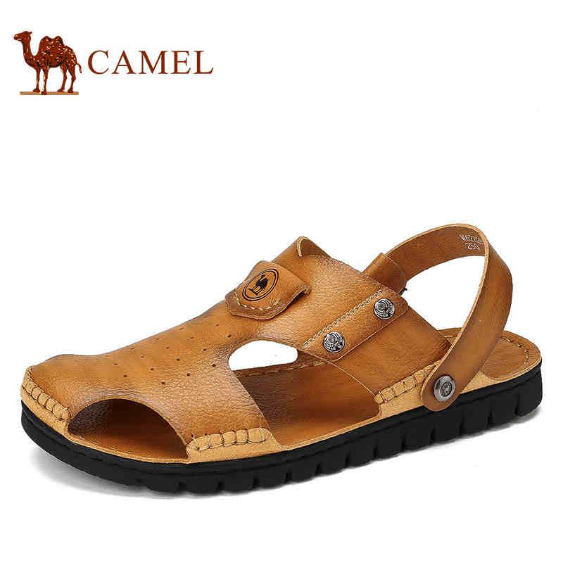 骆驼牌男凉鞋 夏季新品舒适透气男鞋男士露趾户外沙滩鞋