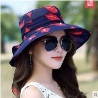 出游防晒大沿沙滩帽可折叠防夏季帽子女太阳帽户外紫外线 遮阳帽可礼品卡支付