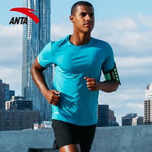 安踏男子运动短袖 2018夏季新款训练健身速干舒适运动T恤15725145