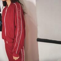 七格格短款外套秋装女新款韩版束腰宽松拉链原宿风长袖上衣潮
