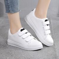 中小学生女孩子14春夏季10大童11板鞋12平底小白鞋13运动球鞋15岁 白黑