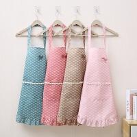家用厨房做饭罩衣女韩版时尚防油防水工作围裙男士背心式可爱
