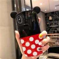迪士尼米奇苹果x手机壳iPhone xs max软壳7plus米妮女款xs/xr创意可爱8p硅胶 苹果xs max 白