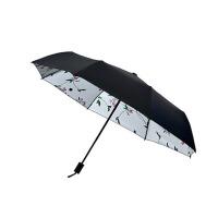 雨伞晴雨两用折叠防晒太阳伞黑胶遮阳伞女