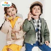 【1件2折】马卡乐童装22春新款男宝宝外套连帽背部字母印花男童外套