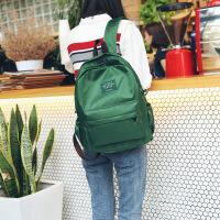 韩版原宿风书包男女 简约尼龙百搭双肩包休闲游玩小背包 绿色 送小礼物