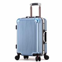 2018新款时尚铝框拉杆箱PC万向轮商务旅行箱20/24寸行李箱