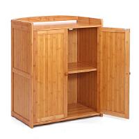 御目 餐边柜 楠竹柜竹木碗柜酒柜茶水柜碗橱储物小柜子简易橱柜厨房柜收纳柜储物柜 创意家具