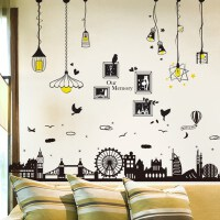 北欧墙贴纸贴画背景墙房间装饰品卧室壁纸自粘宿舍海报3d立体相框