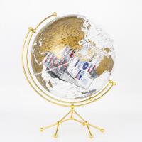 博目地球仪:35cm中英文金色政区圆方透明地球仪 北京博目地图制品有限公司 9787520412773 中国地图出版社