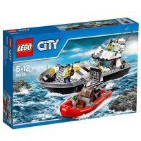 丹麦LEGO乐高City拼插积木玩具 *巡逻艇(5~12岁)60129 开发动手能力,摆脱手机电脑 *佳品