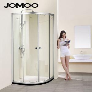 【限时直降】九牧(JOMOO)整体卫浴钢化玻璃浴室淋浴房弧形淋浴房 M3111