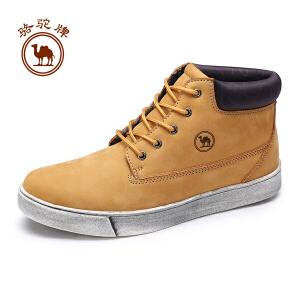 骆驼牌男靴  冬季时尚百搭男鞋系带保暖舒适皮靴子