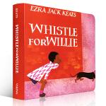 Whistle for Willie 彼特的口哨 纸板书 Ezra Jack Keats 幼儿启蒙认知英文原版绘本