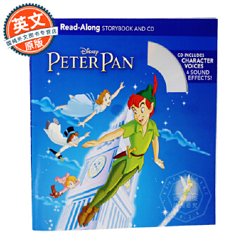 Peter Pan Read-Along Storybook 彼得潘(书+CD)【英文原版童书 迪士尼Read-Along系列、有声读物】