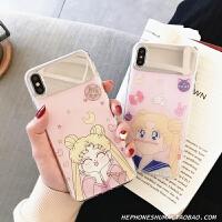 可爱美少女手机壳8se镜面6x硅胶红米note7pro创意女款潮 小米9 镜面 眯眼美少女