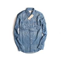 Levi's/李维斯 男士牛仔衬衫春季新款蓝色翻领牛仔衬衫61879-0034