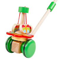 动物单杆手推车学步车旋转玩具婴儿童宝宝助车益智玩具