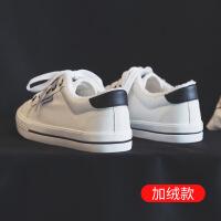 №【2019新款】冬天穿的高帮帆布鞋女韩版潮学生新款棉鞋女加绒板鞋