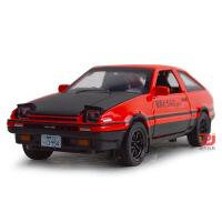 建元 头文字D合金车模1:28丰田AE86汽车模型玩具带声光回力