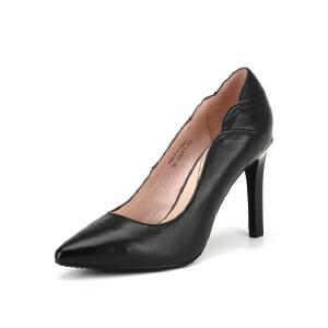 【3折到手价149.7元】Fondberyl/菲伯丽尔 春款牛皮尖头通勤浅口高跟女单鞋FB61111861