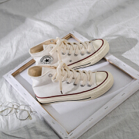 1970s高帮帆布鞋女新款复古山本风鞋韩版skr潮鞋学生板鞋