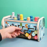 打地鼠木质大号幼儿童益智力婴儿宝宝敲打玩具