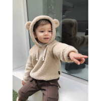 №【2019新款】冬天儿童穿的男宝宝双面加厚连帽卫衣1-3岁儿童毛绒上衣