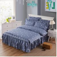 新款夹棉床裙加厚床罩床套被套四件套磨毛加棉床上用品